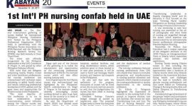 1st International PH nursing confab held in UAE