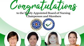 Newly Appointed Board of Nursing Chair and Members
