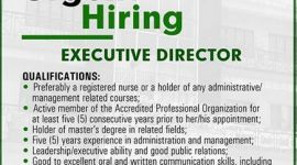 Urgent Hiring of Executive Director